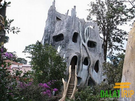 Lâu đài mạng nhện của khu biệt thự Hằng Nga