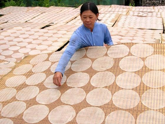 làng nghề bánh tráng Lạc Lâm