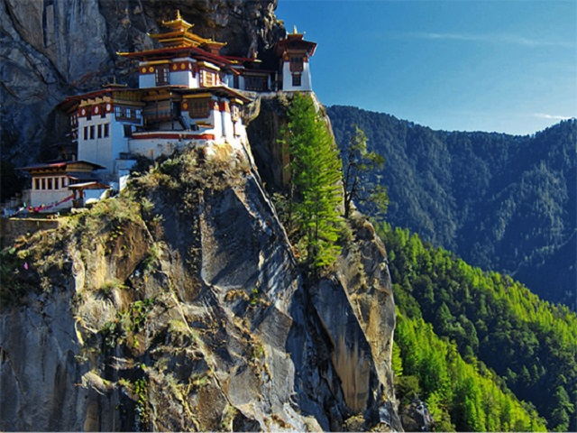 Taktshang, the most famous Buddhist monastery of Bhutan