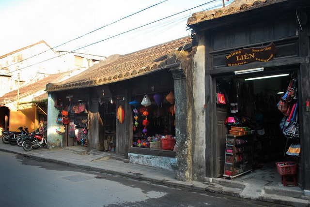 The fashion shops in Hoi An