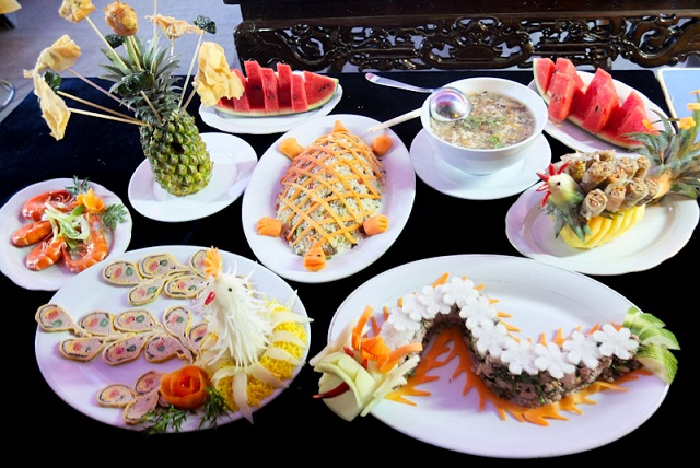colorful dishes of Hue