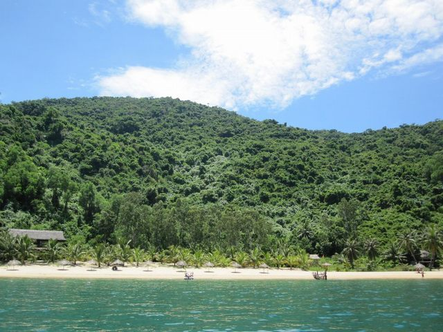 Cham island view from boat