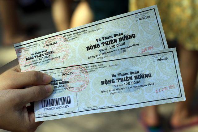 Entrance ticket of Phong Nha cave