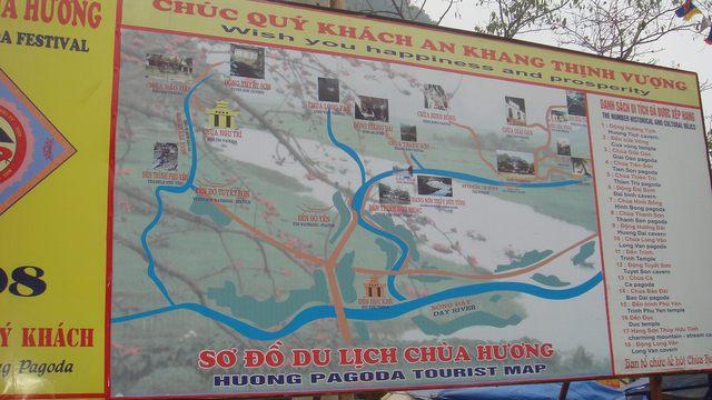 Huong pagoda tourist map