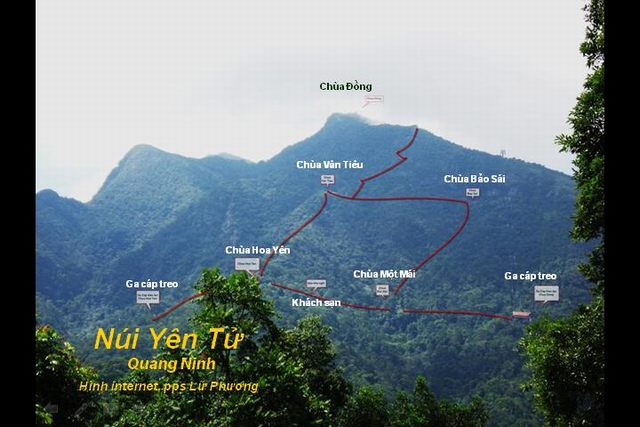 Map of Yen Tu mountain