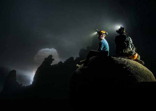 Son Doong cave known as lost world that hides a unique ecosystem. Each year only 500 people have opportunities to go deeply inside Son Doong