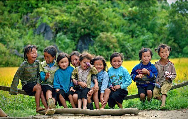 The children in Sapa
