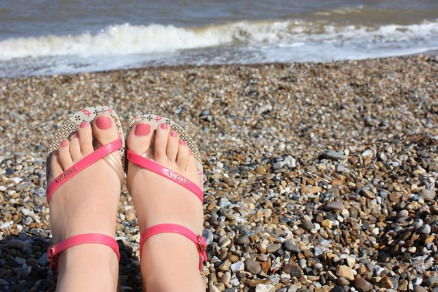 footwear for the coastal beach