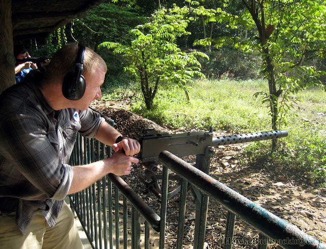 shooting games at Cu Chi Tunnels