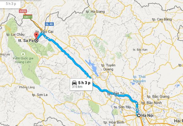 Hanoi - Sapa route