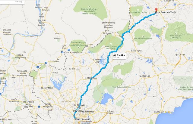 Ho Chi Minh - Buon Ma Thuot route
