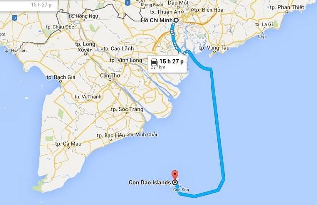 Ho Chi Minh - Con Dao island route