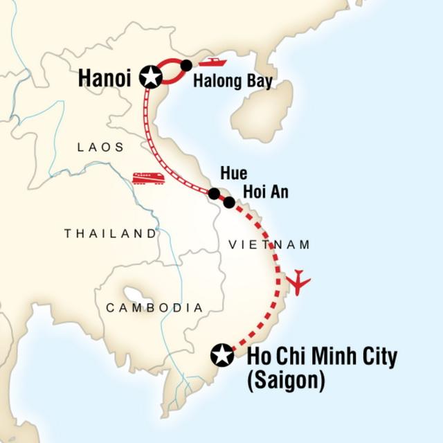 Ho Chi Minh City - маршрут Ханой