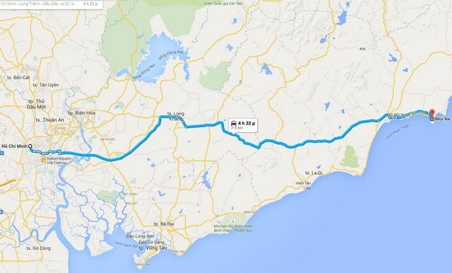Ho Chi Minh - Mui Ne route