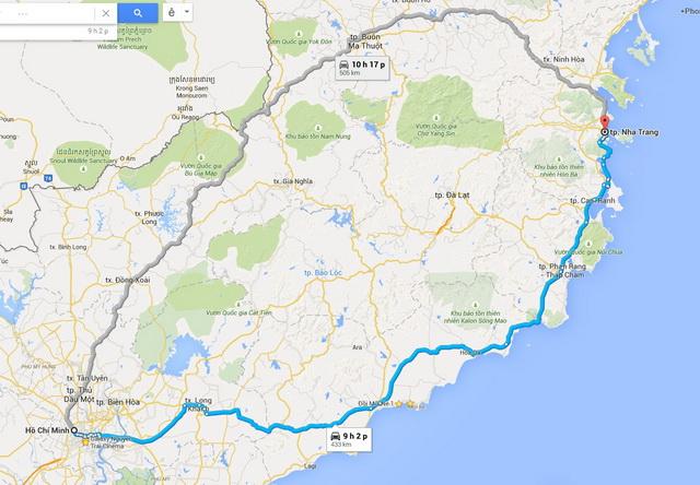 Ho Chi Minh - Nha Trang route