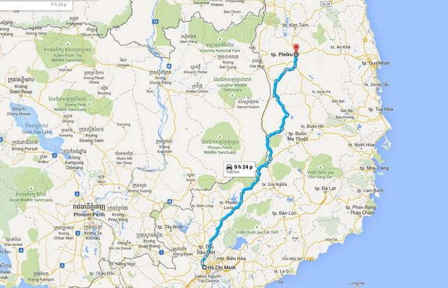 Ho Chi Minh - Pleiku route