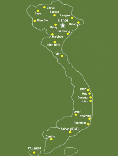 Hô-Chi-Minh-Ville - itinéraire Vinh