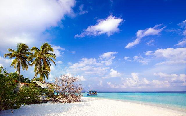 The sand beach of Phu Quoc island