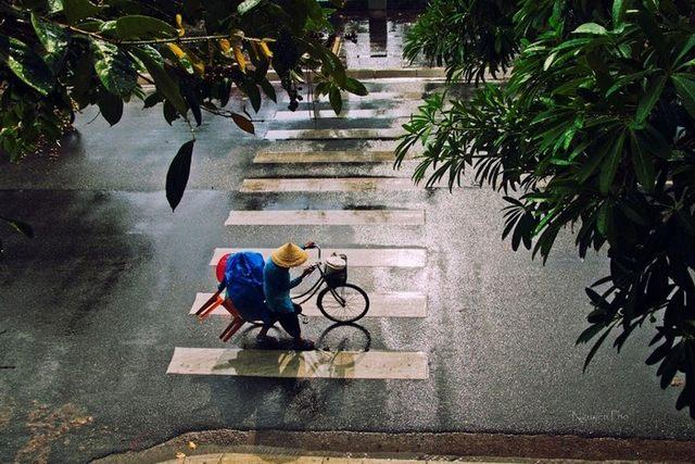 Saigon morning sun and afternoon rain