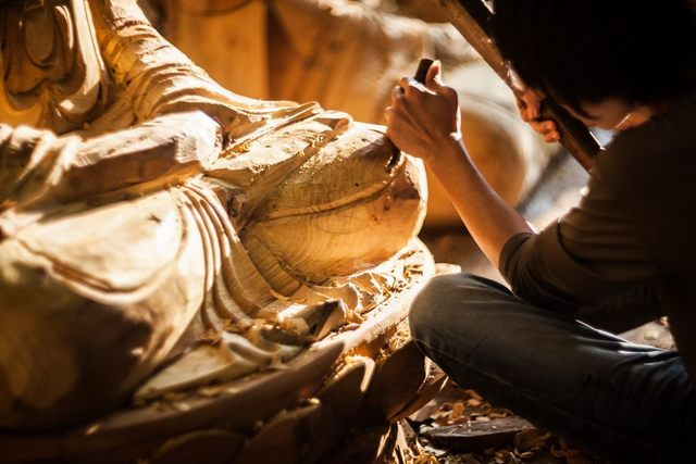 The art sculpture village of Son Dong