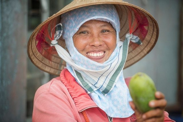 Vietnam's image appears through the physical labor