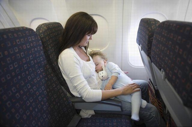 When children sleep, you also feel softer flight