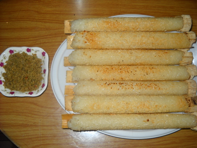 bamboo-tube rice of ethnic minorities