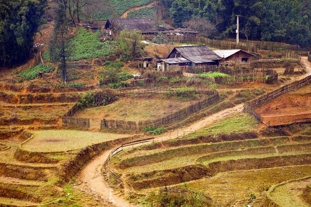 peaceful village scenery