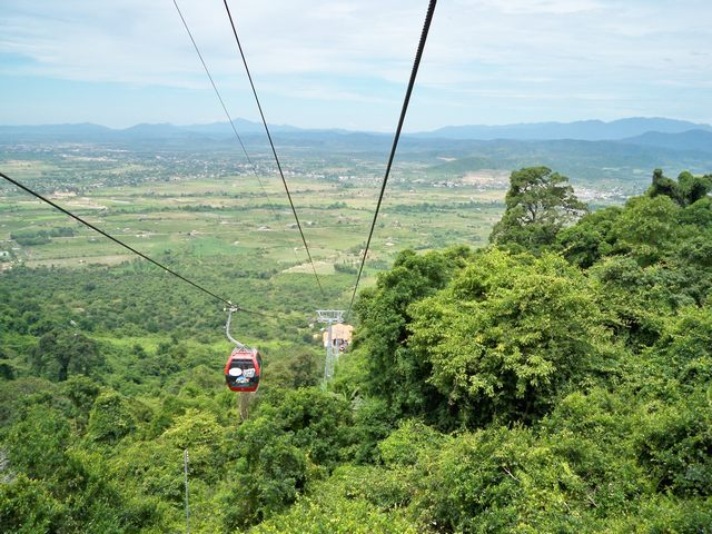 Cable car of Ta Cu Mountain