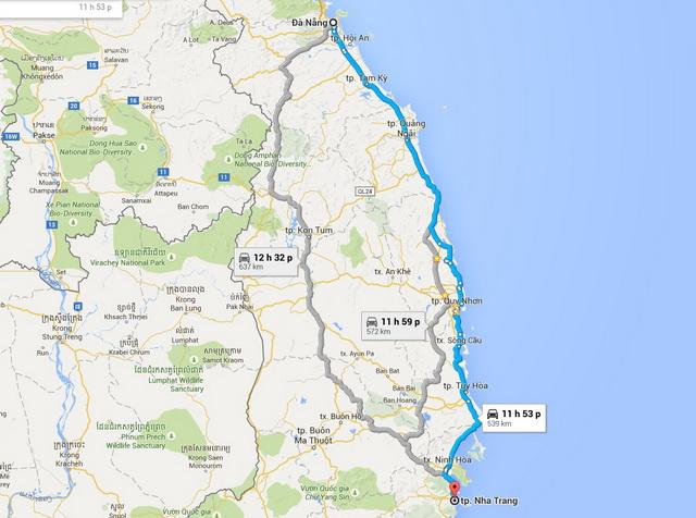 ดานัง - เส้นทาง Nha Trang