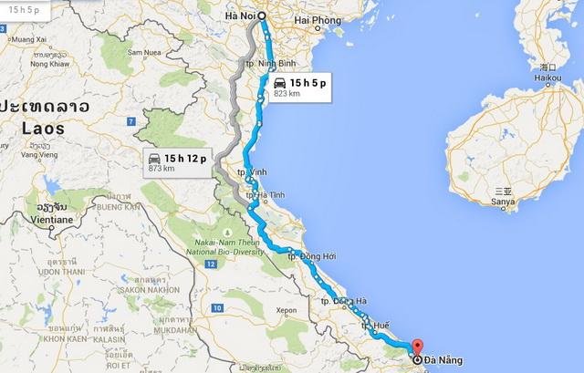 Hanoi - Da Nang route