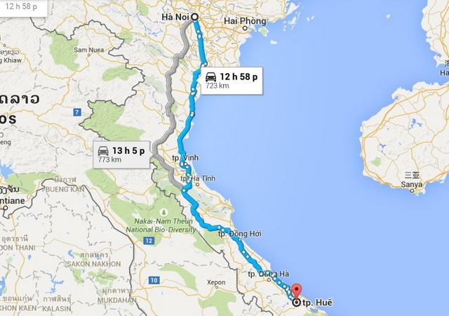 Ханой - Оттенок маршрут
