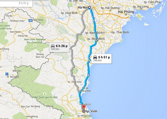 Hanoi - Vinh route