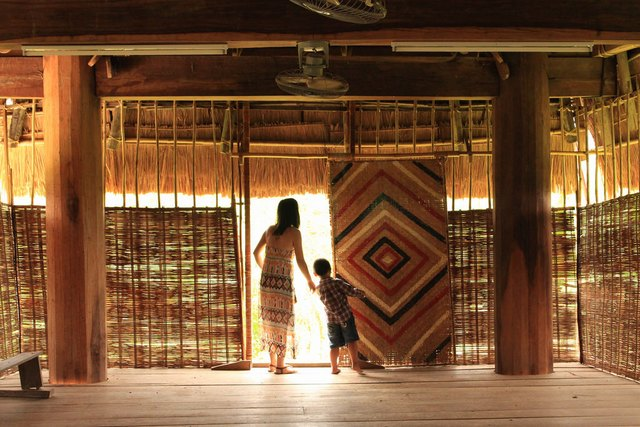 Inside the traditional house