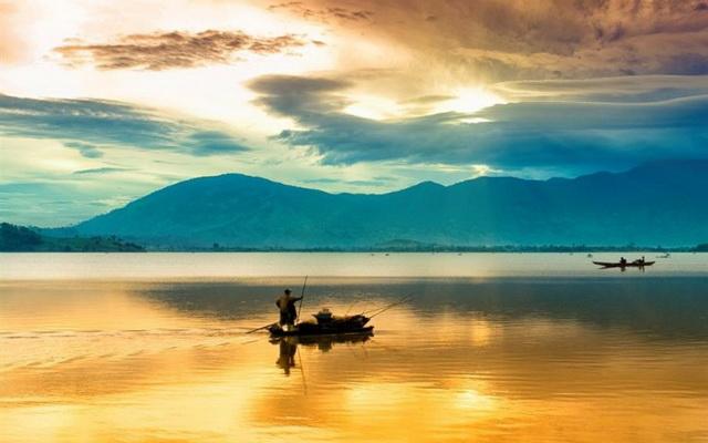 Sunset - Lak lake