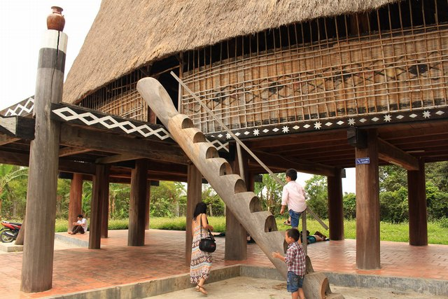 Traditional house of Ba Na people