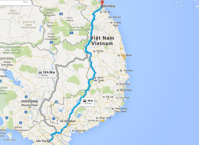 Da Nang - Can Tho route