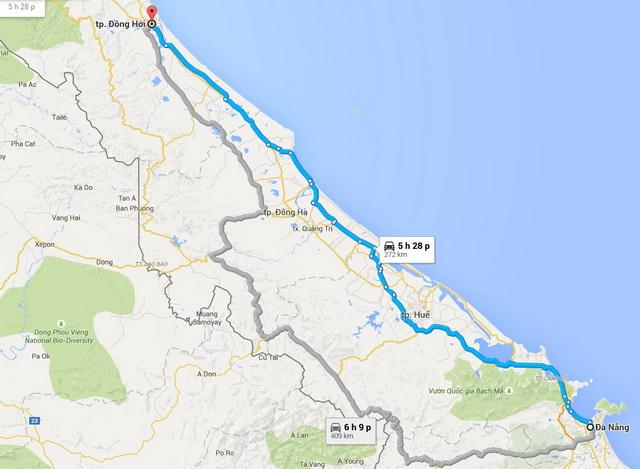 Da Nang - Dong Hoi route