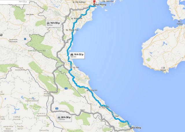 Da Nang - Hai Phong route