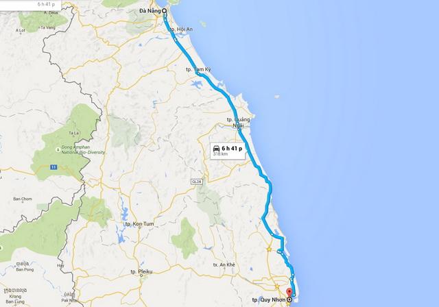Da Nang - Quy Nhon route