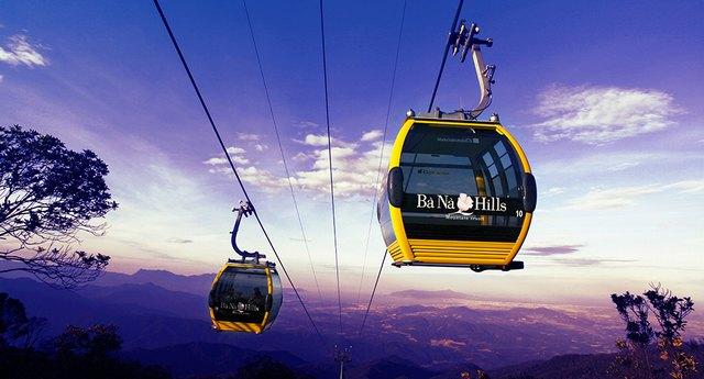 Cable car at Ba Na hills