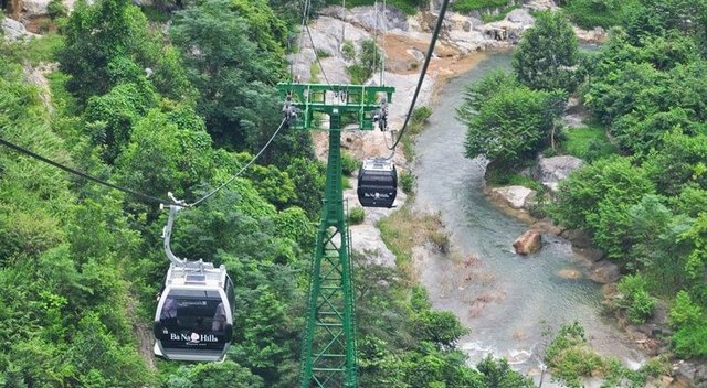 Cable car to Ba Na mountain