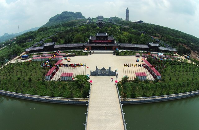panoramic view of Bai Dinh pagoda