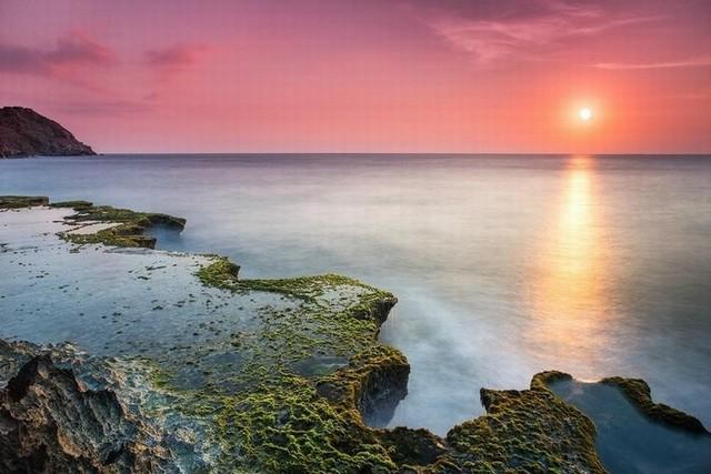 The sun rises on Rai cave