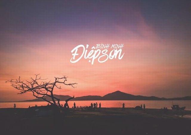 sunrise at Diep Son island