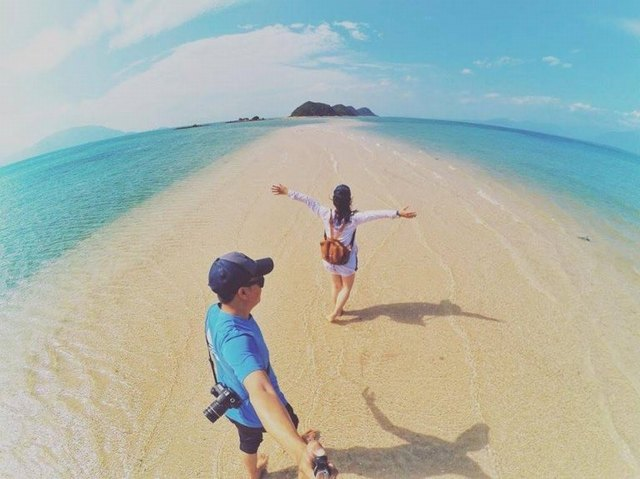 ถ่ายภาพที่เกาะ Diep ลูกชาย