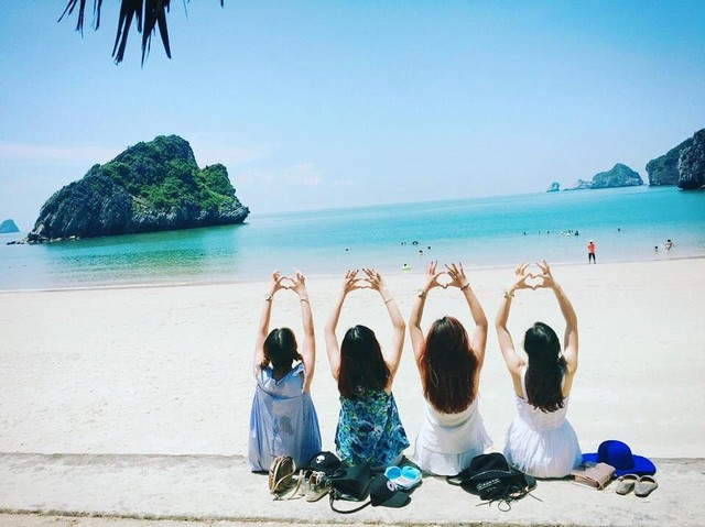 The Beach of Cat Ba island