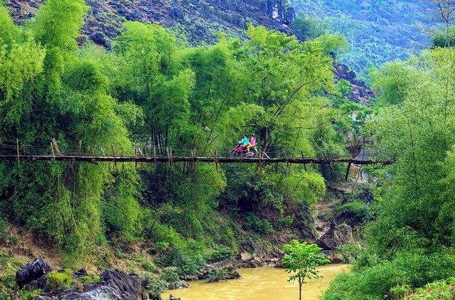 a simple suspension bridge