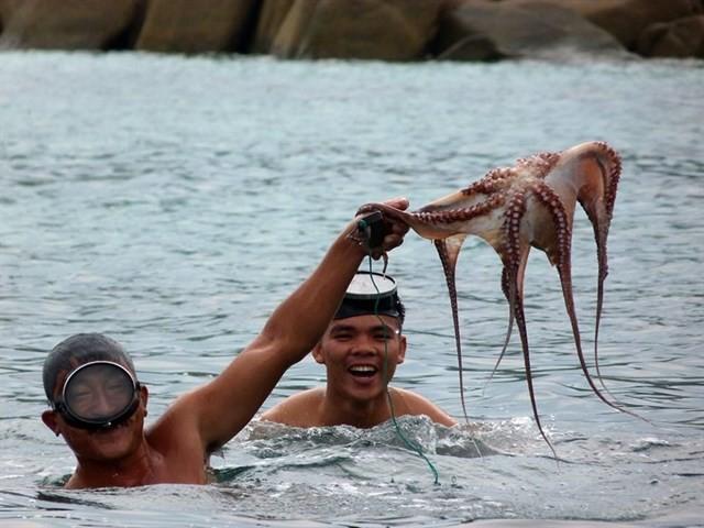 fishing on the sea