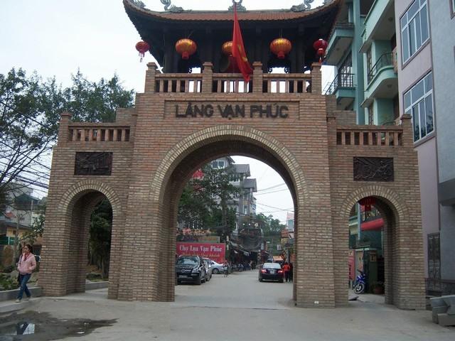 the gate of Van Phuc silk village